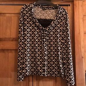 Tops - Size Large black and white top